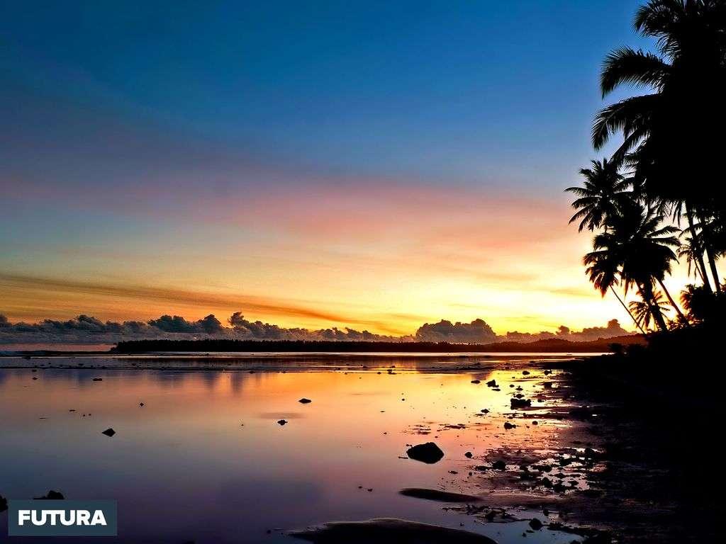 Fond D Ecran Coucher De Soleil En Indonesie