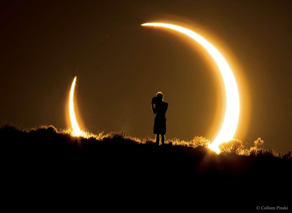 Éclipse annulaire du Soleil au Nouveau-Mexique, le 20 mai 2012. © Colleen Pinski, Apod (Nasa)