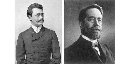 Hermann Minkowski et Félix Klein ont théorisé certaines questions autour du concept d'espace-temps. © DR