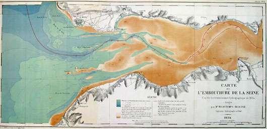 Carte estuaire de 1834
