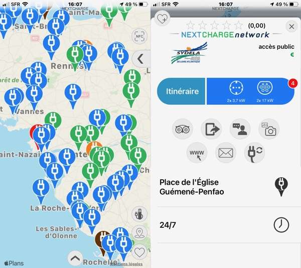 Application mobile Nextcharge © Futura