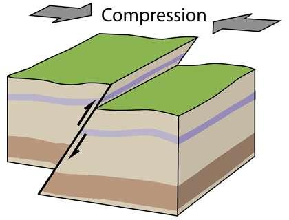 Faille inverse. © RobinL, CC by-sa 3.0, Wikimedia Commons
