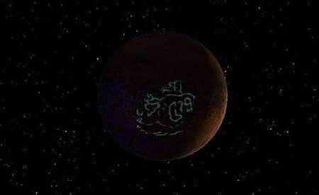 Carte des aurores martiennes dressée par François Leblanc et ses collègues. Cliquer pour agrandir. Crédit Esa/CNRS