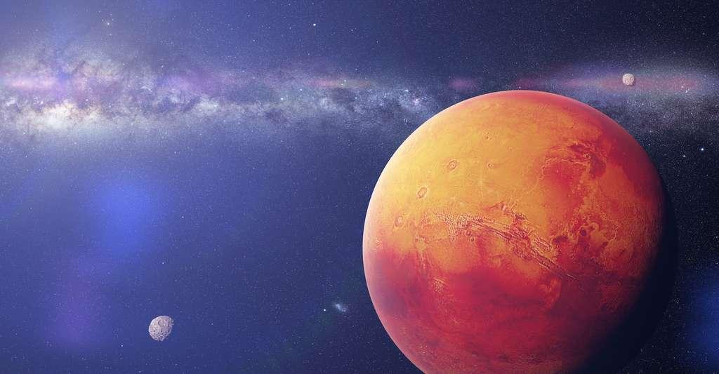 Selon un chercheur de l'université de New York à Abu Dhabi (Émirats arabes unis), la vie pourrait exister dans le sous-sol de Mars. © dottedyeti, Adobe Stock