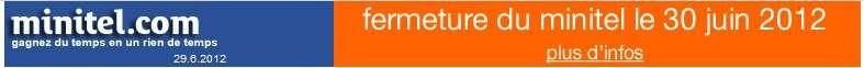 Sur Minitel.com, on annonce la fin... © Minitel.com