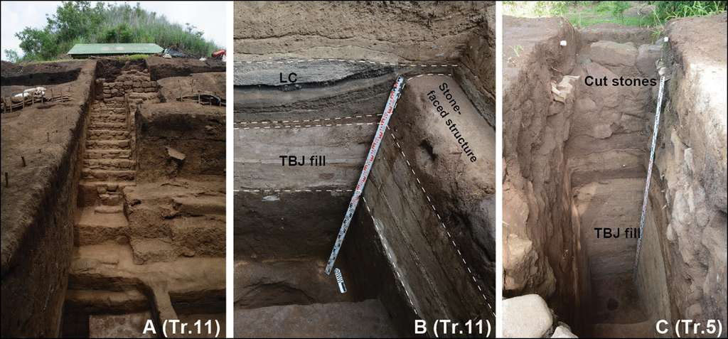 La structure à San Andrés est constituée de plusieurs couches de téphra. © Ichikawa et al, 2021