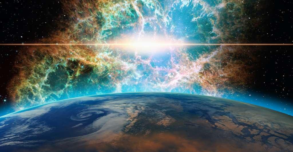 Les supernovae sont soupçonnées d'être d'importantes sources de rayonnements cosmiques qui arrivent jusqu'à la Terre. © muratart, Adobe Stock