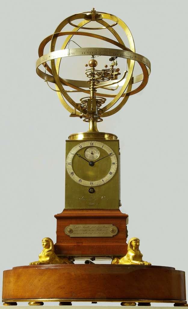 Planétaire de Janvier, 1806. Inscription : « La petite aiguille fait deux tours par minute et 144 battements, chaque battement vaut 23 tours ». Musée Paul Dupuy, Toulouse. © Ville de Toulouse