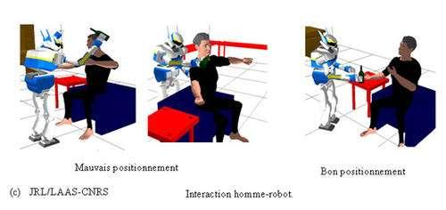 Le robot doit respecter certaines règles dans son interaction avec l'humain. © JRL-LAAS-CNRS