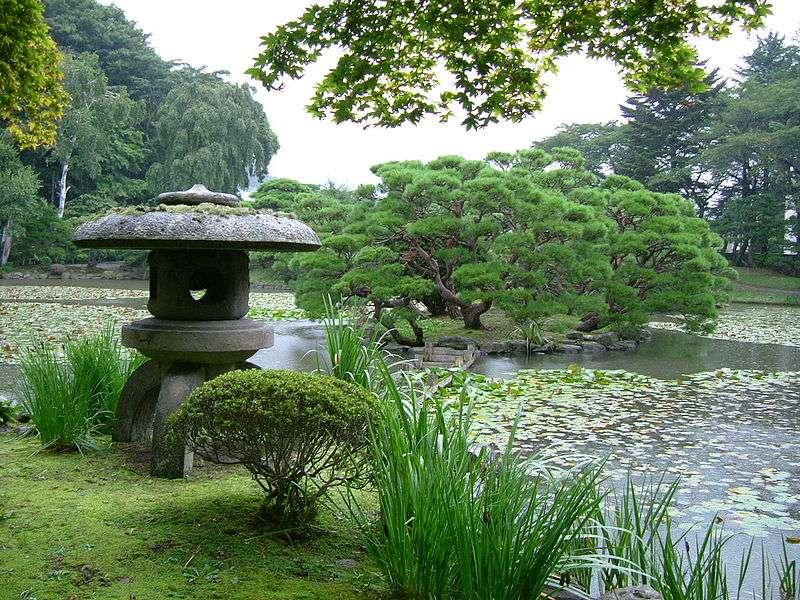 Un jardin japonais à Morioka, au Japon