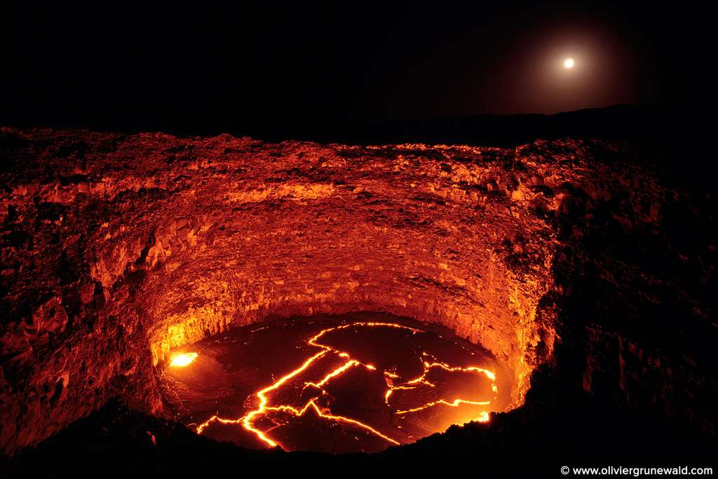Le lac de lave de l'Erta Alé en Éthiopie