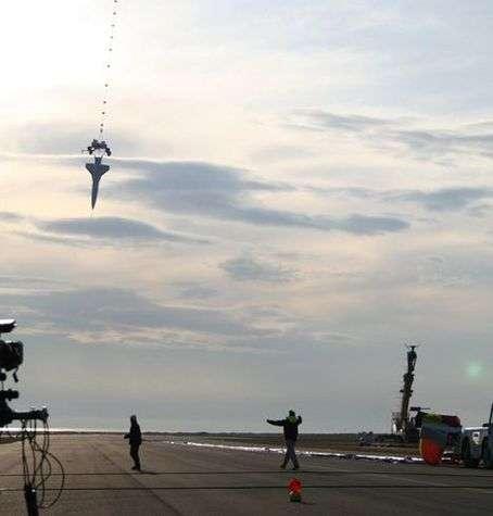 Ascension de Castor sous son ballon. Crédit CIRA.