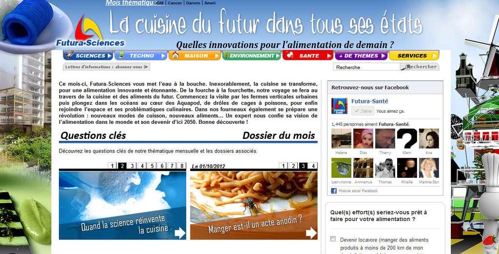 Cliquez pour découvrir la page spéciale cuisine du futur !