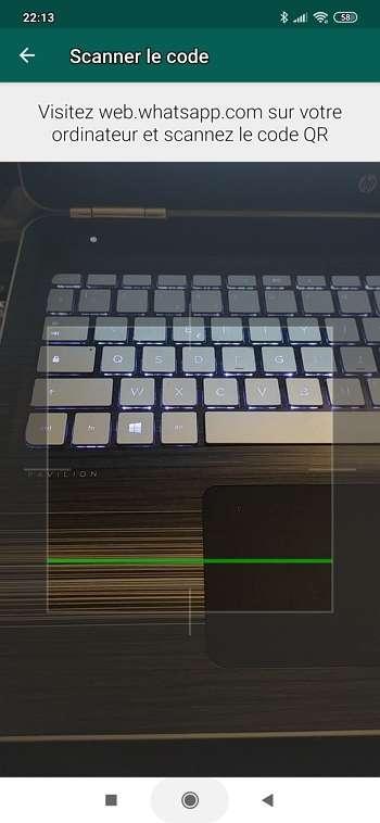 Votre smartphone affiche désormais le scanner. © Facebook