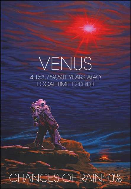 Des chercheurs du CNRS et de l'université de Versailles Saint-Quentin estiment que les conditions n'ont jamais été réunies sur Vénus pour que tombe la pluie. © Manchu, CNRS