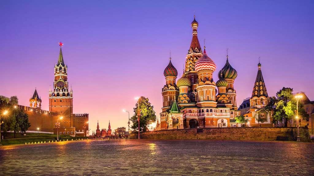 La place Rouge, au pied du Kremlin