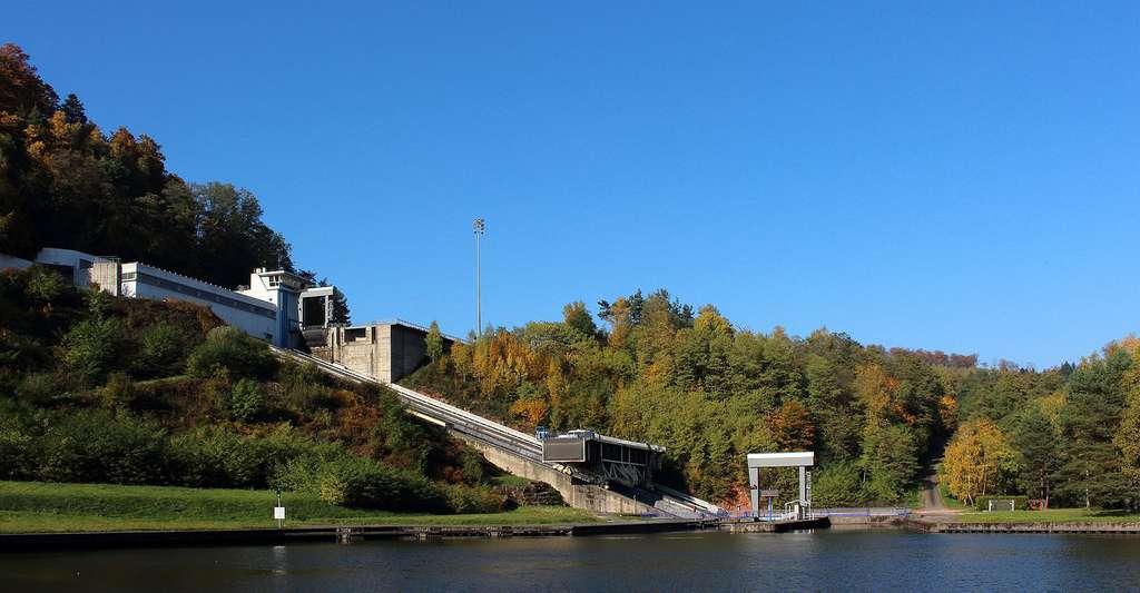Le plan incliné de Saint-Louis-Arzviller, en Moselle. © Tommapson, DP