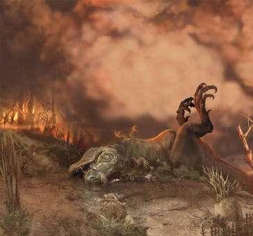 Un refroidissement climatique ne serait pas la cause de la disparition des dinosaures. © Courtesy of Karen Carr