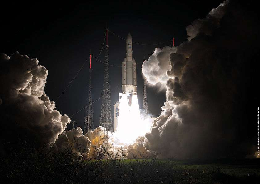 Lancement d'Ariane 5 du 9 mars 2016. © CGS, Arianespace, Cnes, ESA