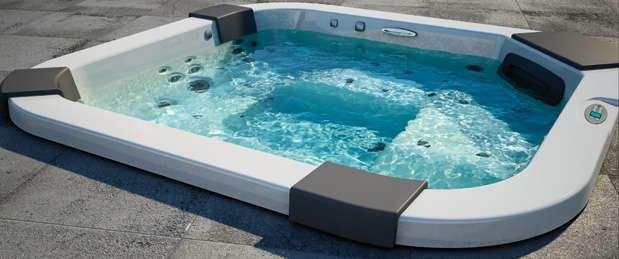 Les spas encastrables s'intègrent comme une piscine. © Jacuzzi®