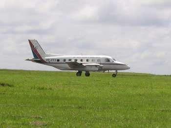 Avion instrumenté Falcon du DLR en vol vers 12 km d'altitude.© DLR.