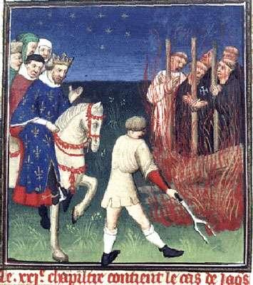 Bucher des templiers - Boccace enluminure XVe