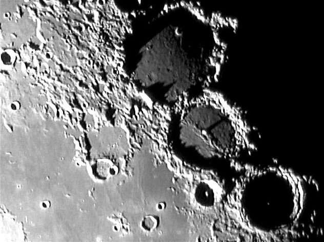 La Lune - Région de Ptolémée au terminateur