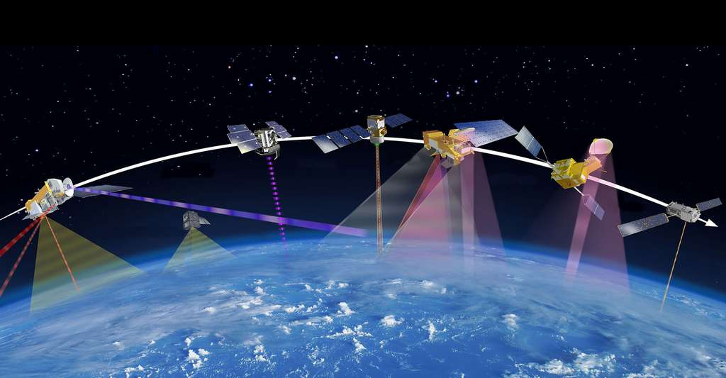 La Terre sous surveillance. © NASA JPL, Wikimedia commons, DP