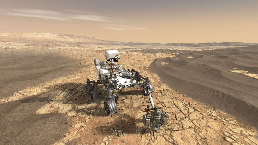 Le rover Mars 2020 embarquera 21 instruments et 23 caméras. Ce rover filmera et photographiera en plusieurs dimensions comme aucune autre mission sur Mars auparavant. © Nasa, JPL-Caltech