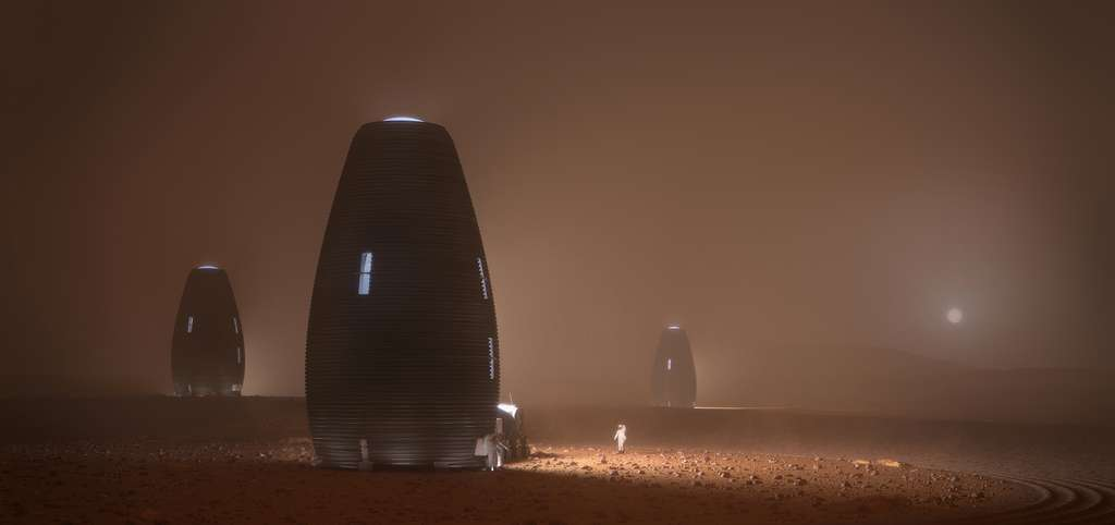 Impression d'artiste de l'habitat martien imaginé par AI SpaceFactory et Autodesk. © AI SpaceFactory