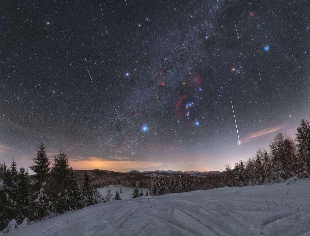 Les Quadrantides, la première pluie d'étoiles filantes de l'année, photographiée ici par Petr Horalek. © P. Horalek, Apod, Nasa