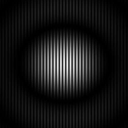 Le résultat de l'expérience : la distribution de lumière observée sur l'écran est constitué de franges. Crédits : Richard Taillet