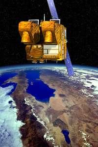 Le satellite d'observation de la Terre SPOT 5, embarquant notamment l'instrument VEGETATION 2. © CNES