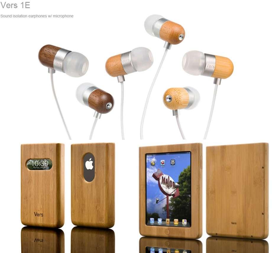 Des écouteurs en bois signés Vers