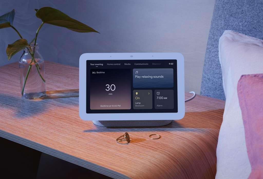 Le Nest Hub est un radio-réveil évolué. © Google