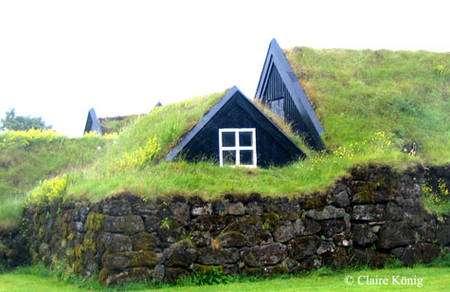 Maisons traditionnelles en Islande. © Claire König