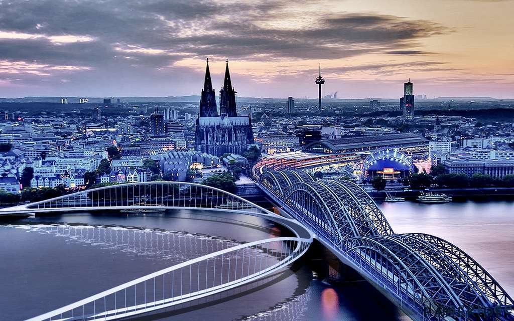 Le pont cyclable RheinRing (Cologne, Allemagne). © Spade, BYCS
