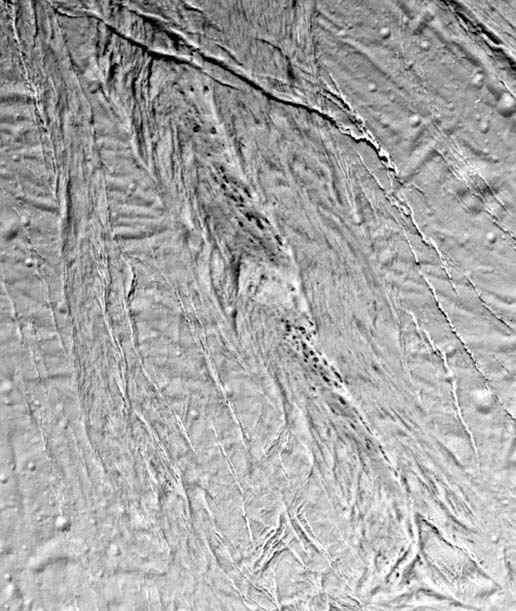Encelade détails de failles