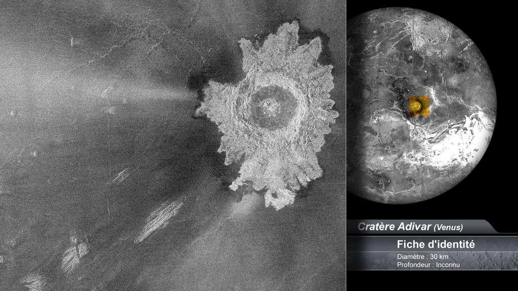 Le cratère Adivar sur Vénus