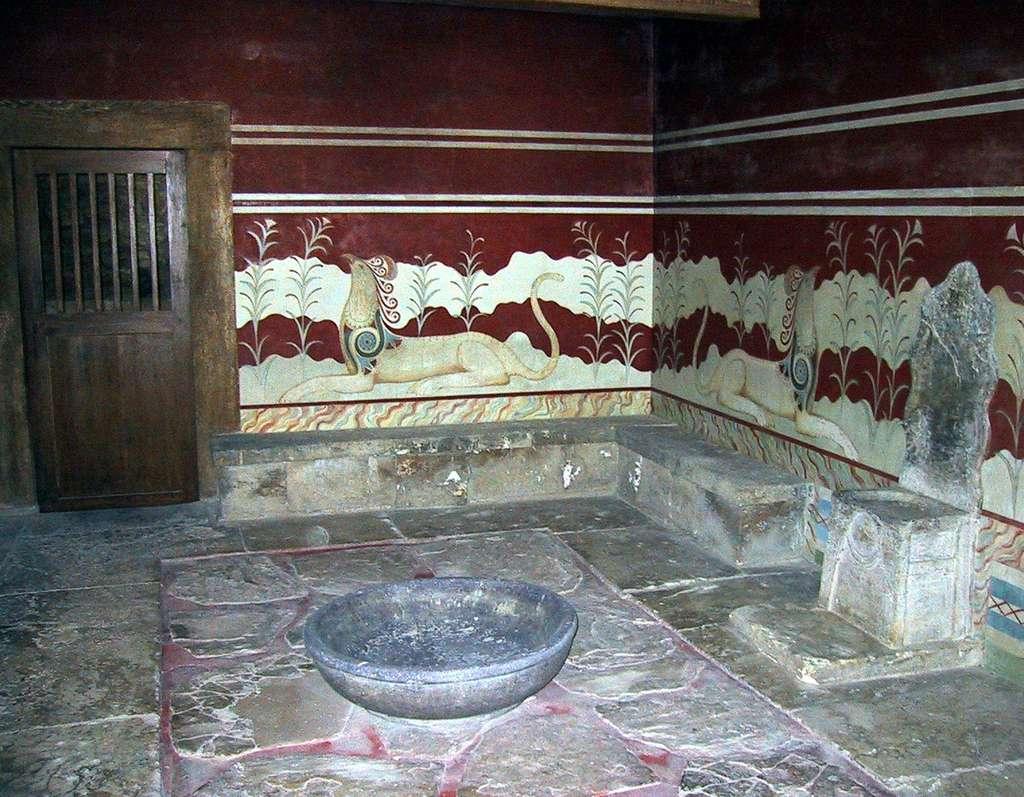 Hall du trône à Cnossos. © Chris 73, cc by sa 3.0