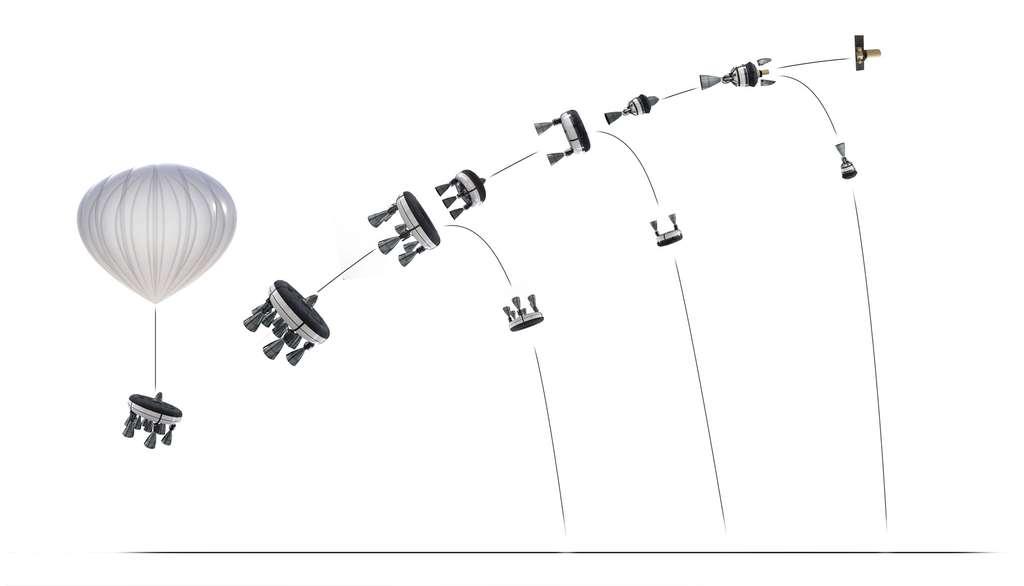 Mission type du lanceur Bloostar depuis la stratosphère. © Zero2infinity