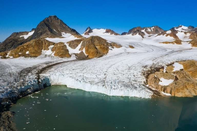 Le glacier d'Apusiajik, près de Kulusuk, au Groenland, le 17 août 2019, © Jonathan Nackstrand, AFP, Archives