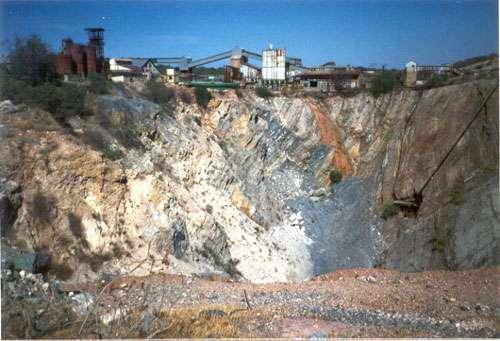 Le site de Tsumeb était un site d'extraction minière. Il a fermé en 1996. © DR