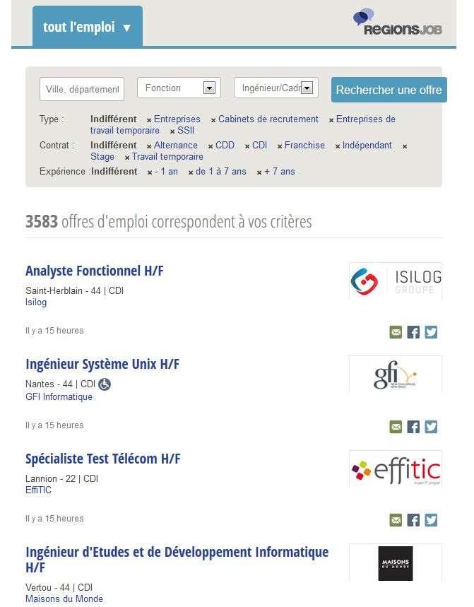 Cliquez pour consulter les offres d'emploi, vous abonner à l'alerte mail et déposer votre CV en ligne. © Futura-Sciences