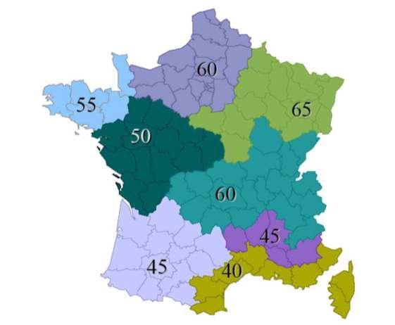 RT2012 : la consommation maximale par zone géographique © rt-batiment.fr