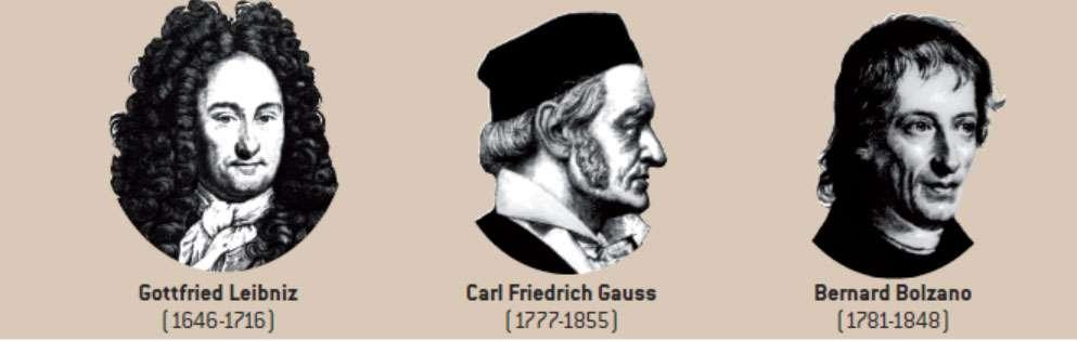 Bolzano, puis Gauss et Leibniz, ont amené notre conception actuelle de l'infini. © Belin