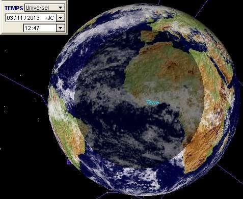 La bande de totalité de l'éclipse hybride de Soleil de novembre ira de la Floride à l'Éthiopie. © DR