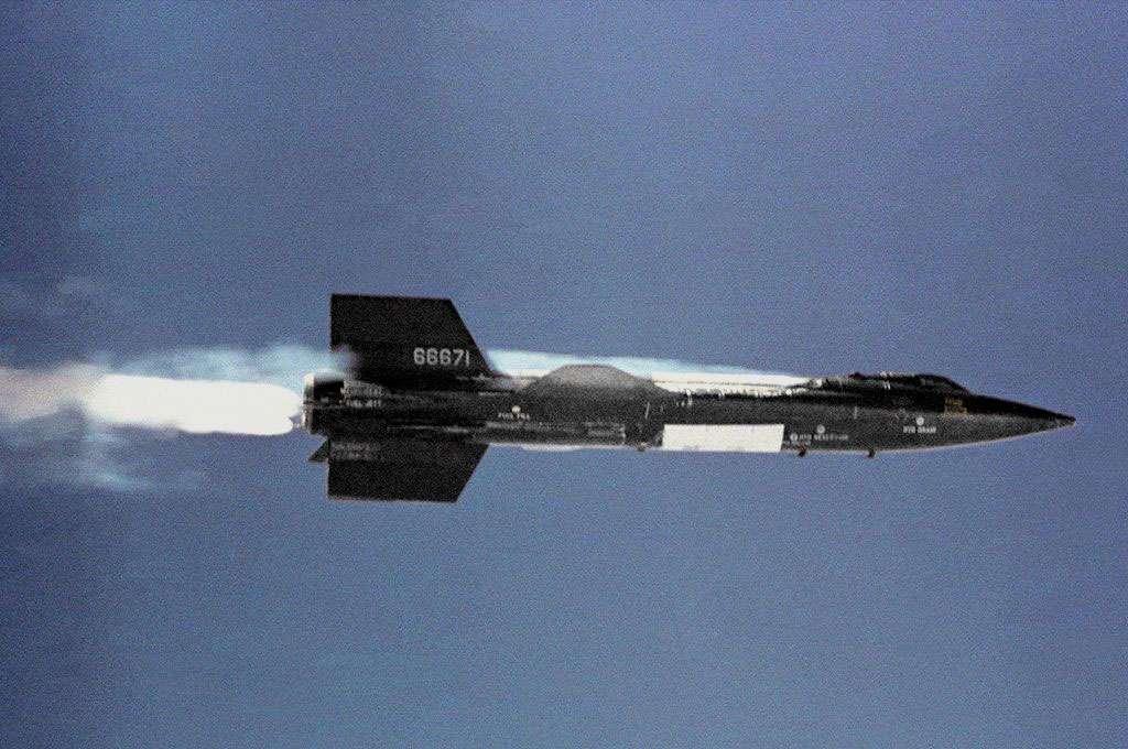 Le X-15, mi-avion, mi-fusée. © Nasa - Domaine public
