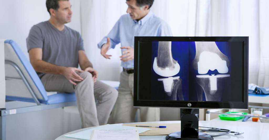 Consultation pour un cas d'arthrose du genou. © RFBSIP, Fotolia
