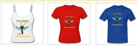 Cliquez pour acheter votre tee-shirt « Bee happy ».